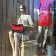 Dummies in shopwindow - Stock Photo
