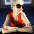 Blonde in sunglasses — Stock Photo