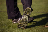 Close-up of Golfer's Shoe — Stock Photo