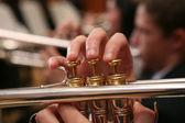 Close-up of Man Playing Trumpet — Stockfoto