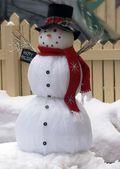 счастливый снеговик — Стоковое фото