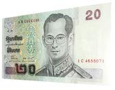 20 baht note — Stock Photo
