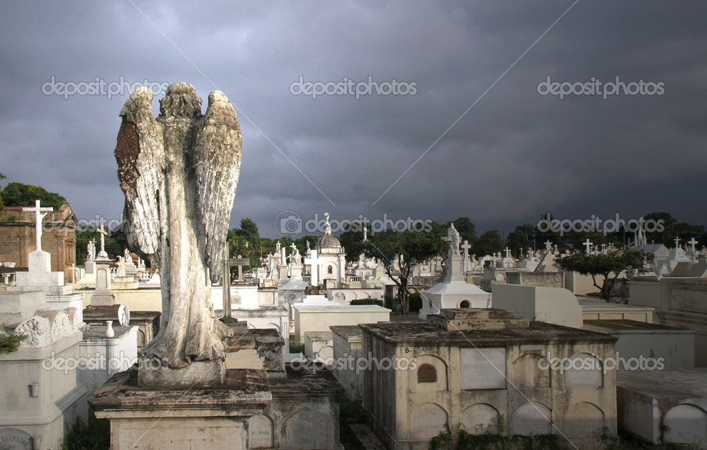 Angel over looking a grave yard         — Stock Photo #2830821