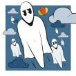 Funny ghosts — Stock Vector #3222274