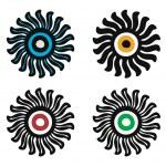 Sun logos — Stock Vector #3546251
