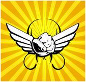 Wing emblem — Stock Vector