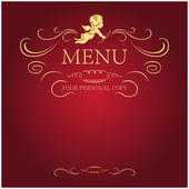 Menu blank — Stock Vector