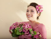 Quirky Pink Portrait — Stock Photo