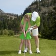 Golf Lesson — Stock Photo