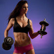 Stock Photo: Female Bodybuilder