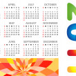 Calendar grid 2011 year — Stock Vector
