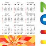 Calendar grid 2011 year — Stock Vector