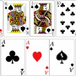 Set of playing cards vector — Stock Vector
