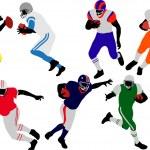 American football player vector — Stock Vector #2766168