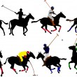 Polo players vector silhouette — Stock Vector