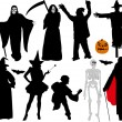 Halloween vector silhouettes — Stock Vector #2767229