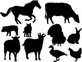 Gård djur vektor — Stockvektor