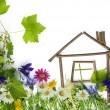 Stock Photo: Sweet green dream home