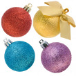 Stock Photo: Christmas spheres with a rough surface set