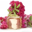 Cosmetic oil from roses — Stock Photo