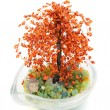 Stock Photo: Tree of Bonsaj from beads