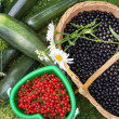 Baskets with berries — Stock Photo