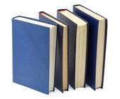 Four blue old books — 图库照片