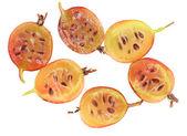 Halves berries of a gooseberry — Stock Photo