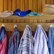 Stock Photo: Old clothes in old house