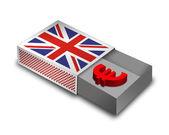Empty Matchbox - UK — Stock Photo
