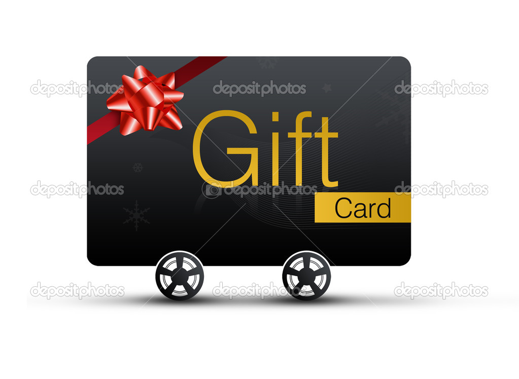 Gift Cards with shopping concept. Isolated on white background  — Stock Photo #3398571