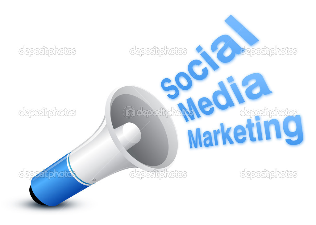Social Media marketing concept with White background — Foto Stock #3727589