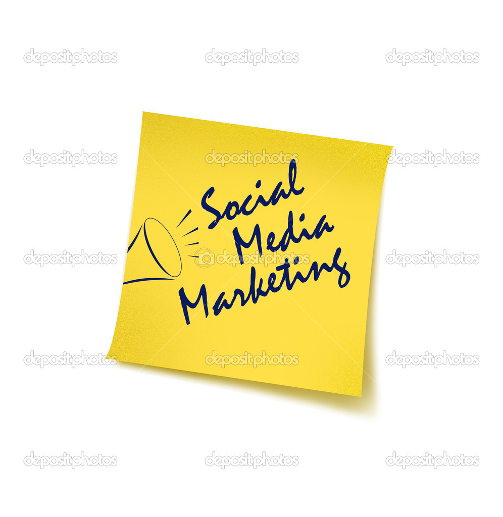 Social Media marketing concept with post it  Stock Photo #3727591