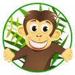 Cute monkey — Vector de stock