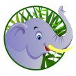 Cute elephant — Vector de stock