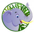 Cute elephant — Stockvektor