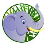 cute elefante — Vettoriale Stock