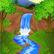 Waterfall - Stock Vector