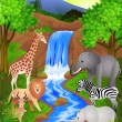 Animal in jungle — Stockvector #2868757
