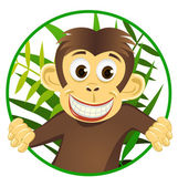 Cute monkey — Stock Vector
