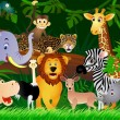 Animal in the jungle - Stockvectorbeeld