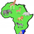 Stock Vector: Animal Africa