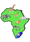 Animal Africa — Stockvector