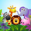 Cute animal cartoon — Image vectorielle