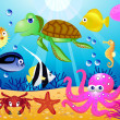 Stock Vector: Sealife