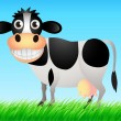 Stock Vector: Funny cow