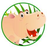 Cute Hippo — Stock Vector