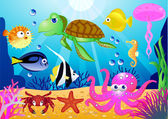 Sea-life cartoon — Stock Vector