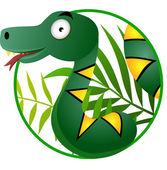 Cute snake cartoon — Stock Vector