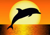 Dolphin silhouette — Stock Vector